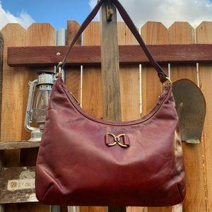 Vintage leather handmade handbag.